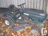 """CRAFTSMAN riding lawnmower Color - Green Automatic 42"""""""