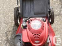 Excellent mower with 6.25hp Briggs engine with