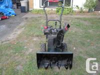 "SnowBlower Craftsman 5hp 22"" Bucket $275.00 Tecumseh 5"