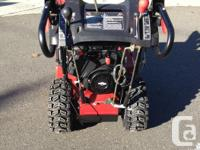Specialist snowblower available $955.00, Has 1.5 hrs of