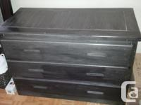 mint condition black brown stain 42W x 20D x 291/2H