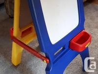 The Crayola Chalk & Dry-erase Kids' Easel is approx 43""