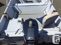 Crestliner Welded Hull Aluminum boat Yamaha 30Hp motor