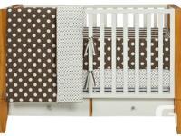 Dwell studio Crib bedding (light brown/cream/taupe)