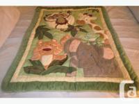 Jungle Pattern Crib Set. Includes Comforter, (shown in