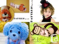 1600+ images of my crochet animal hats, patterns and