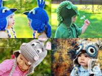 1550+ pictures of our crochet animal hats, beast hats,