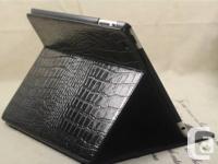 Brand new Croco Leather iPad 4 Air case Black   Croco