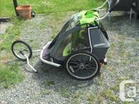 Like new 3in1 walking, running, biking child carrier.