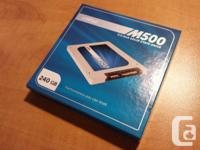 I'm selling a Crucial M500 SSD Solid State Drive 240gb.