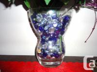 Selling Crystal Flower Vase with 1 inch solid base -