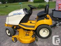 Cub Cadet version 3208 kroller command 20hp. Mower cut