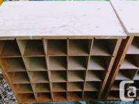 This is a shabby/chic, rustic, plywood storage