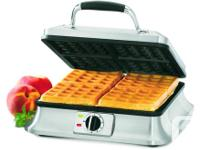 FOR SALE IS A Cuisinart 4 Slice Belgian Waffle Iron,