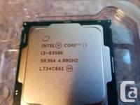 Intel I3-8350, 4 core 4.0 Ghz processor 8Gb ram 2400