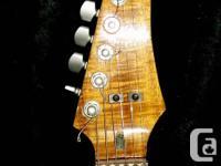 Custom Built guitar. Lace sensor pickups, roller nut.
