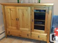 Custom built, pine entertainment cabinet. Gorgeous !! (