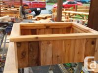 Cedar planter beds. Built to your specifications and