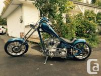 "2008 chopper. Low km. new ultima 127"" motor and revtec"