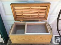 Beautifully handcrafted cedar chest with removable tray