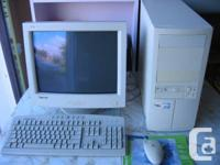 custom desktop computer for sale  with CRT monitor and