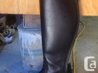 Custom dark Brown Fabri tall boots worn a handful of