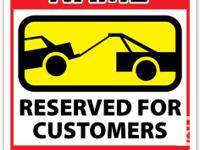 We make your fully customized Parking Signs, printed in