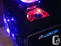 "custom built gaming desktop ""with black and red scheme"""