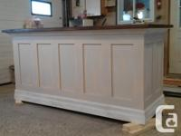 Custom built kitchen islands and bars. Each piece is