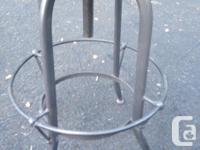 Custom made cast iron and wooden bar stools. We have 7