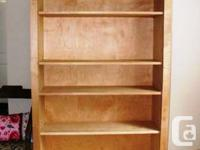 I am selling 2 custom made bookcases which are also
