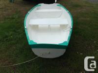 4 feet x 8 feet approx. Floatation under rear seat Ribs