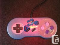 Custom airbrush/Hand painted SNES controller featuring