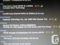 Custom Mid Gamer,Core2Quad 2.66Ghz,8Gb Ram,320 GB Hard