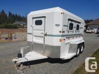 1996 custom built Norbert 2 horse angle haul trailer for sale  British Columbia
