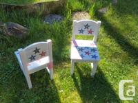 Cute chairs for your little country bumpkins. Newly