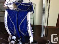 For sale I have pro goalie equipment used 2 years Bauer