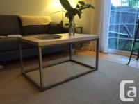 This is a custom made coffee table which was hand