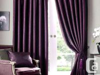 Customized Drape - 1 Panel. COLOUR: Deep Royal Purple