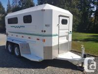 1996 custom built Norbert 2 horse angle haul trailer