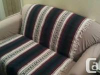 Very cute and comfortable little loveseat. Some stains
