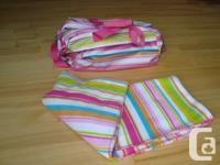"Cute Preppy Stripe ""Room It UP""  Baby Duffel Bag &"