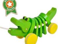 When pull along, this very cute wooden Alligator moves