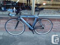 """Blue Time Trial bike. 54cm size, (5'8"""" to 5'11"""")."""