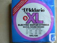 D'Addario SXL120 Super Light Gauge Double Ball End
