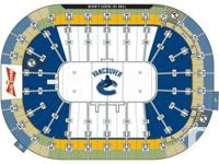 4 hard copy season tickets to the Vancouver Canucks vs.