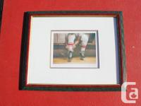 """Framed Danby print entitled """"Tiing Up"""". Overall size is"""