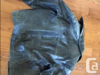 This is an older leather jacket, super-soft,
