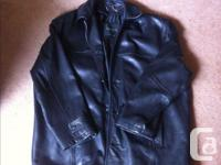 Men's large leather jacket. Great condition. No marks.