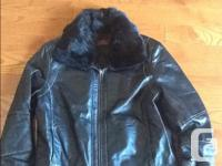 Women's Danier Black Leather jacket size small. It has